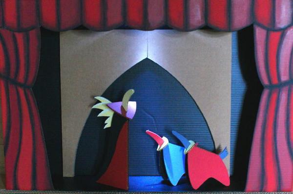 du th tre en carton cabano. Black Bedroom Furniture Sets. Home Design Ideas