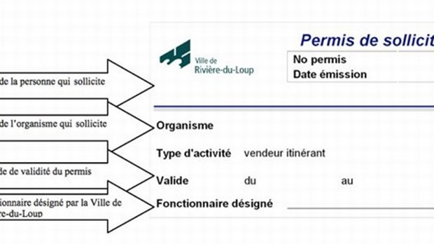 Un permis de sollicitation d sormais obligatoire pour les for A quoi ressemble un permis de construire