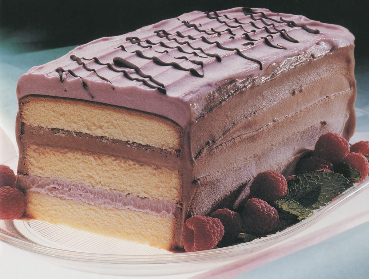Gâteau glacé aux framboises  infodimanche.com