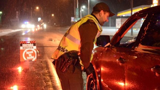73 arrestations pour conduite avec les facultées affaiblies