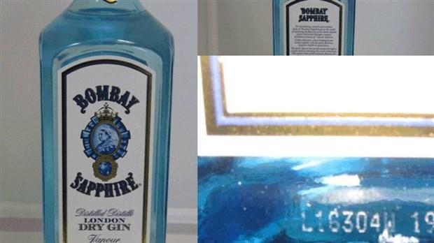 Du gin à 77% au lieu de 40% d'alcool rappelé
