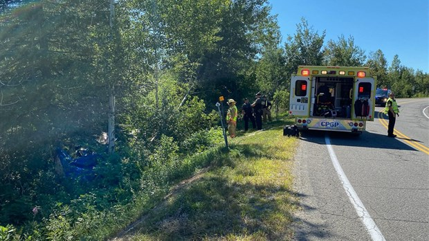 Une sortie de route fait un mort à Notre-Dame-du-Portage